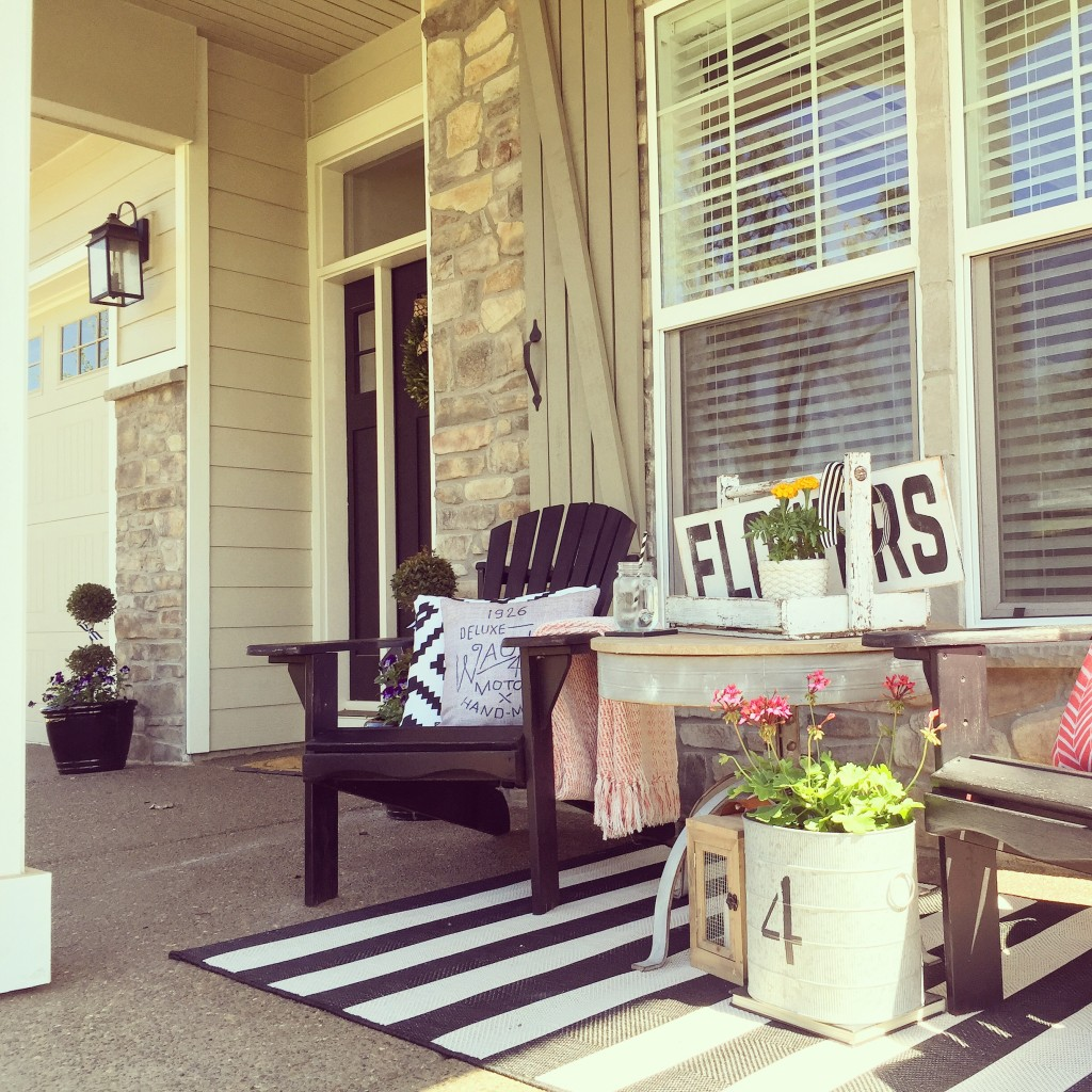 Front Porch Of Yellow House Stock Photo: Front Porch Love » Yellow Prairie Interiors